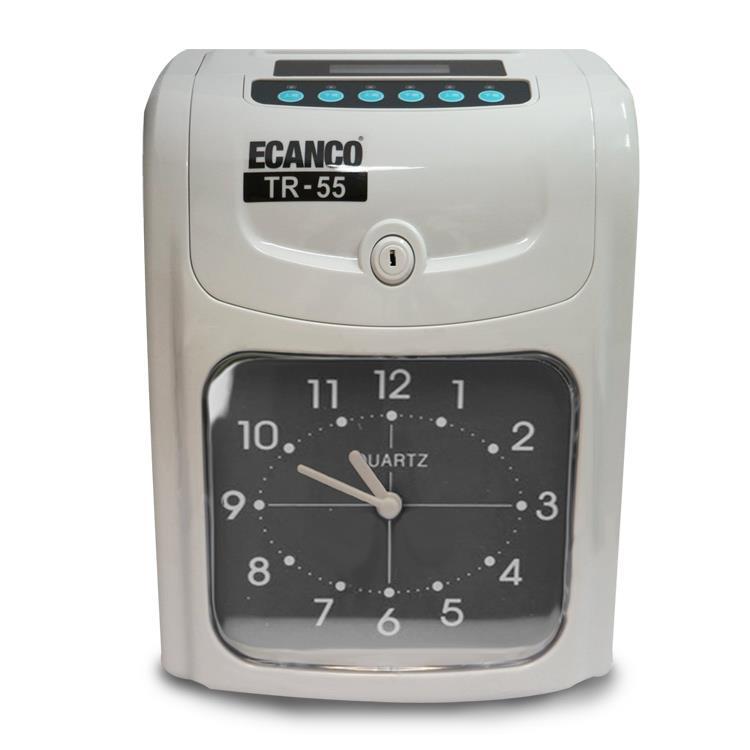 ECANCO 微電腦雙色列印專業型打卡鐘 (TR-55)