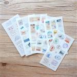 和紙貼紙04.復古郵票(6入/套)