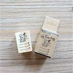木質橡膠印章 04.快樂的小熊-動物日記系列