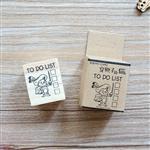 木質橡膠印章 05.穿靴子的貓-動物日記系列