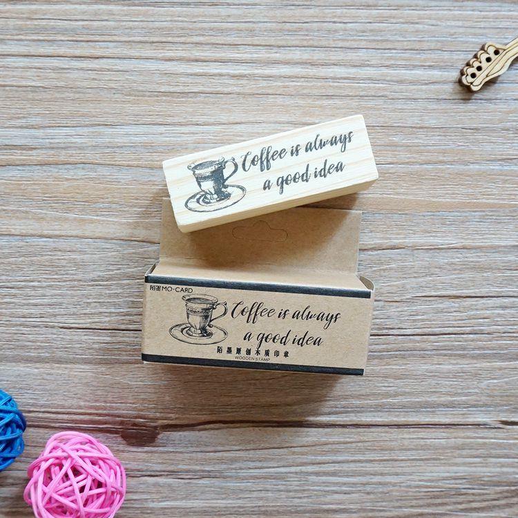 木質橡膠印章 06.慢生活-咖啡店系列