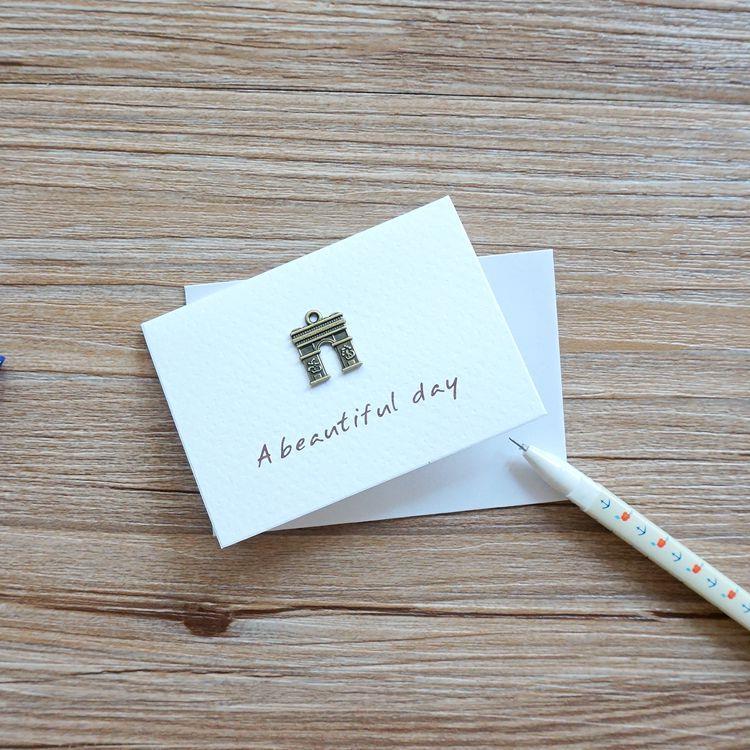 凱旋門‧祝福‧古銅裝飾萬用小卡