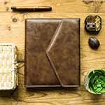 復古信封包-25K(A5)活頁筆記本+介紙1.0鋼筆適用紙內頁‧客製化雷雕款