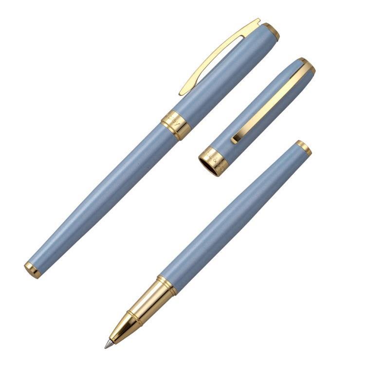 【Chris&Carey】Essence精華鋼珠筆(客製化刻字) / 粉灰藍