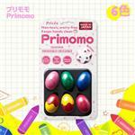 【Primomo】普麗貓趣味蠟筆(蛋殼型)6色-附橡皮擦