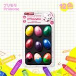 【Primomo】普麗貓趣味蠟筆(蛋殼型)12色-附橡皮擦