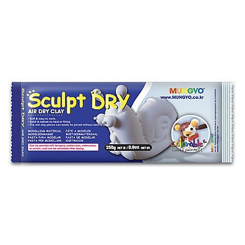 韓國 MUNGYO 無毒 免燒陶土 公仔土 250g 白色 Sculpt Dry