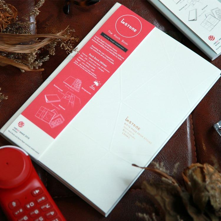 [imSTONE石頭紙禮品] 設計師系列-角岩筆記本 25K-白