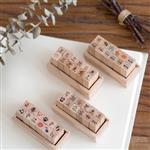 迷你DIY天氣音符餐具手帳印章[12入](音符)