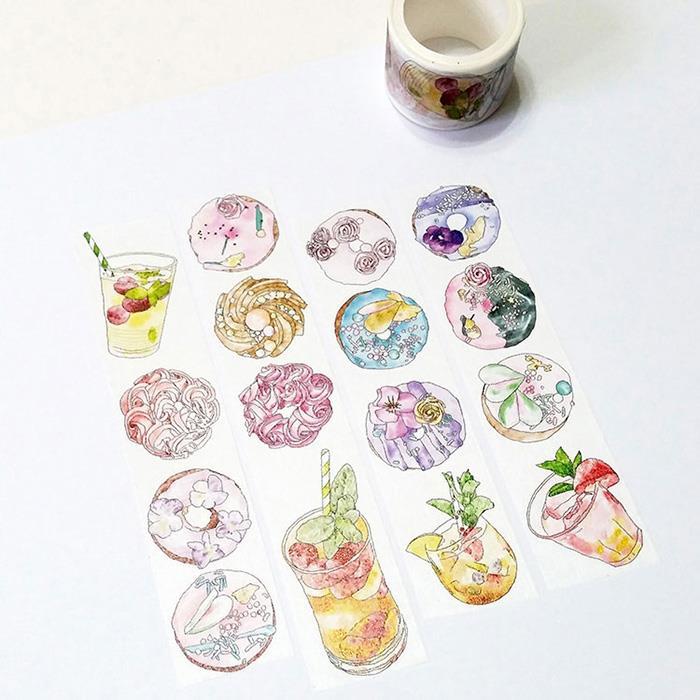 麒麟紙膠帶 甜甜圈花茶