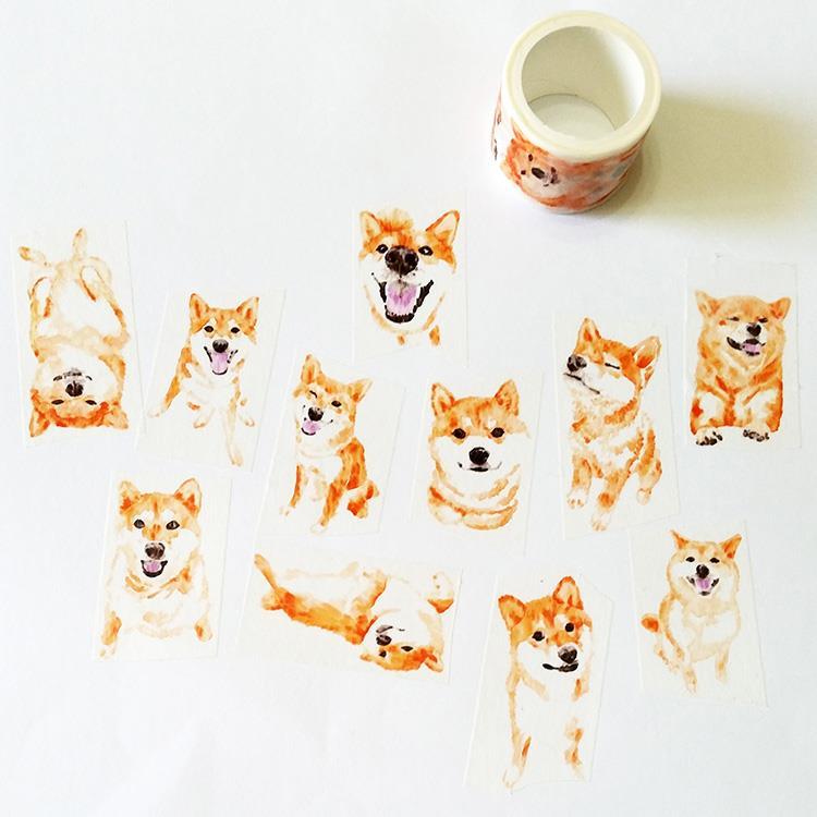 麒麟紙膠帶 柴犬