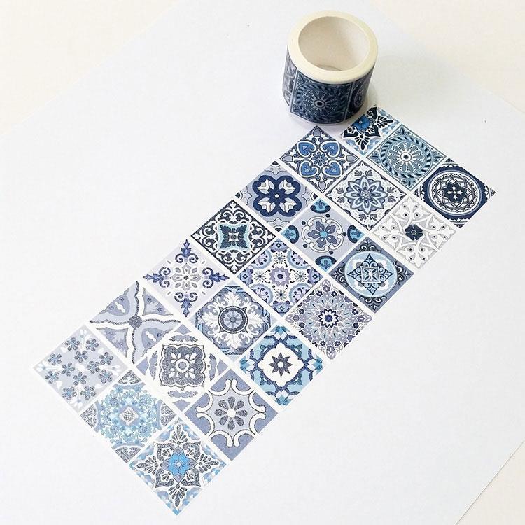 麒麟紙膠帶 藍花磚