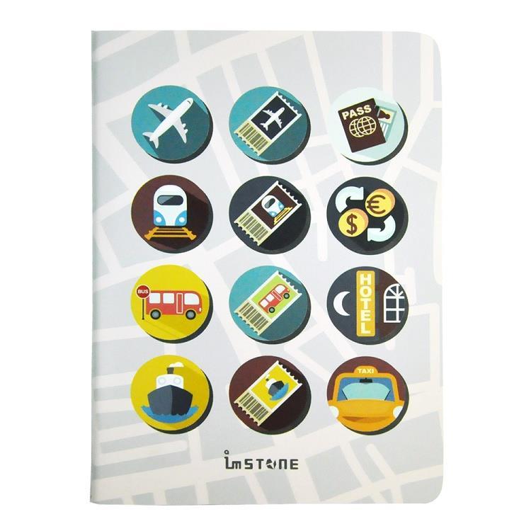 [imSTONE石頭紙禮品] 隨石撕護照型筆記本-Icon Book | 白日街道