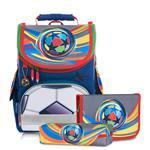 Tiger Family小貴族超輕量護脊書包+文具袋+鉛筆盒-炫彩足球