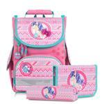 Tiger Family小貴族超輕量護脊書包+文具袋+鉛筆盒-萌萌小馬