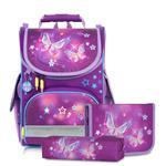 Tiger Family小貴族超輕量護脊書包+文具袋+鉛筆盒-星空蝴蝶