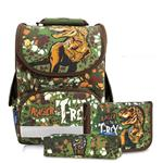 Tiger Family小貴族超輕量護脊書包+文具袋+鉛筆盒-迷彩暴龍