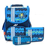 Tiger Family小貴族超輕量護脊書包+文具袋+鉛筆盒-藍色條紋