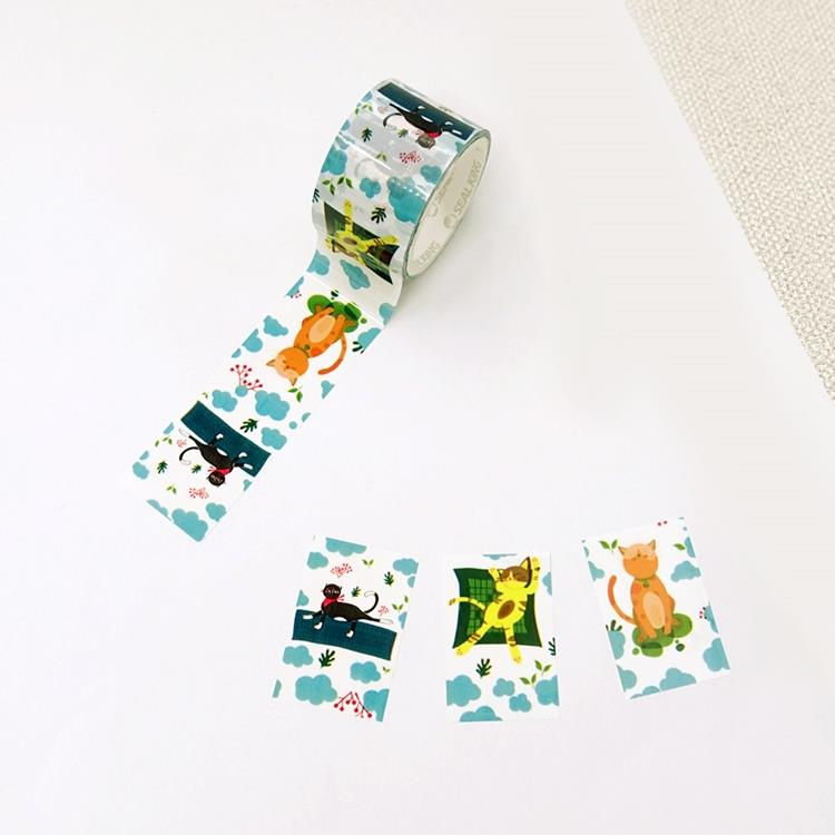 【ESTAPE】動物派對系列 貼紙|慵懶貓星人(手帳/裝飾/易撕貼/重複黏貼)
