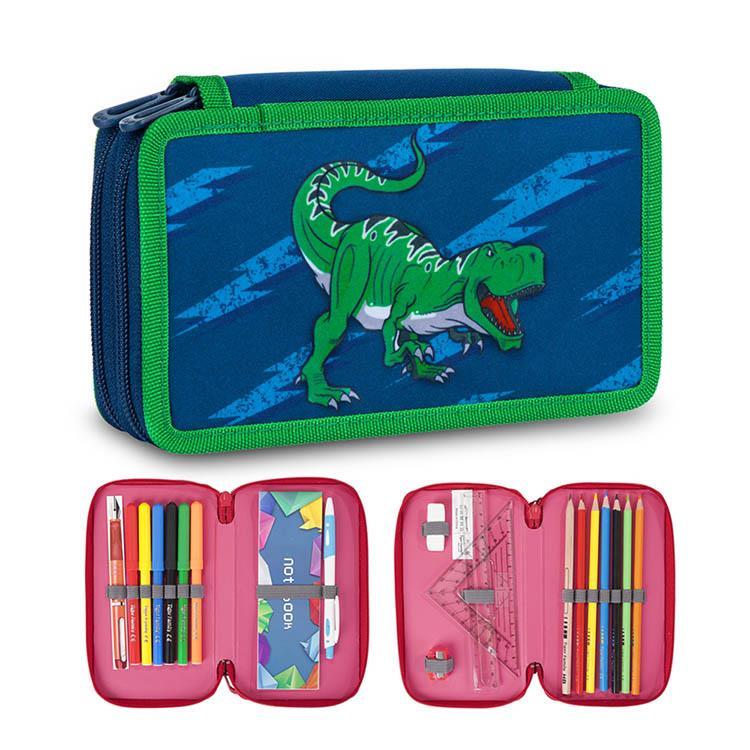 Tiger Family小騎士多功能雙層創意文具袋-宇宙恐龍