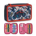 Tiger Family小騎士多功能雙層創意文具袋-四驅車