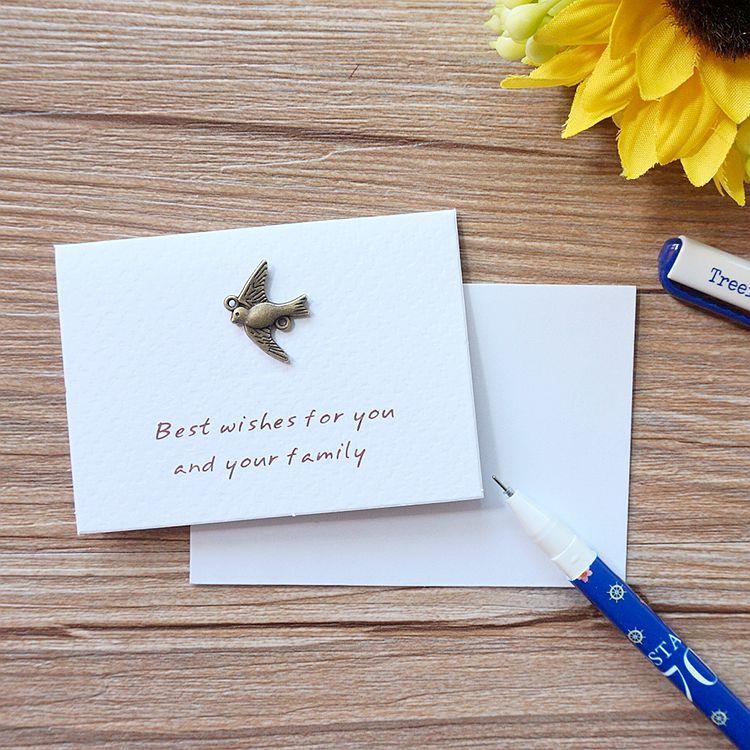 和平鴿.祝福‧古銅裝飾萬用小卡