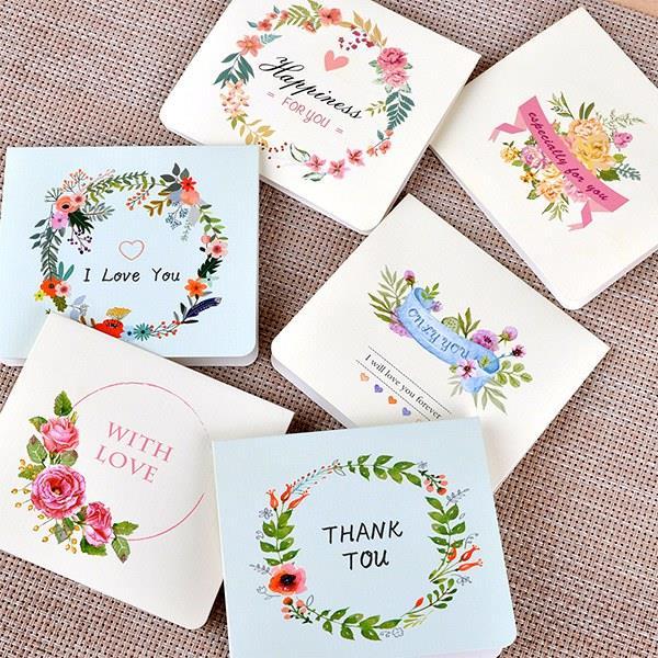 清新花環折疊信封卡片組(愛的陪伴)