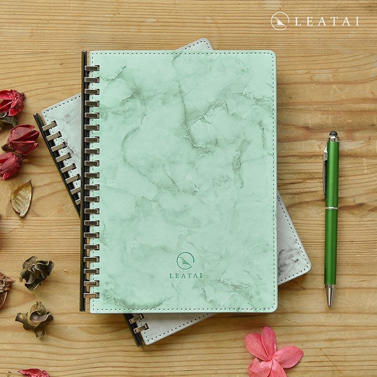 戀戀風塵 A5大理石紋滑動夾活頁本 (介紙1.0-鋼筆適用紙) -綠色
