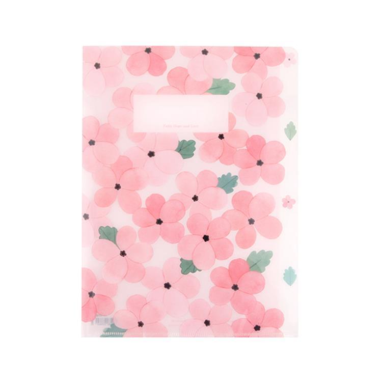 韓國GRACEBELL-Flower花朵系列3層資料夾03.浪漫粉