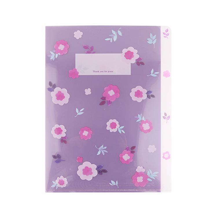 韓國GRACEBELL-Flower花朵系列3層資料夾04.紫雛菊