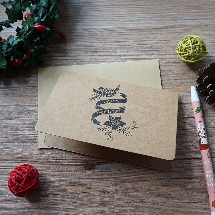 復古聖誕節賀卡-03.花朵絲帶