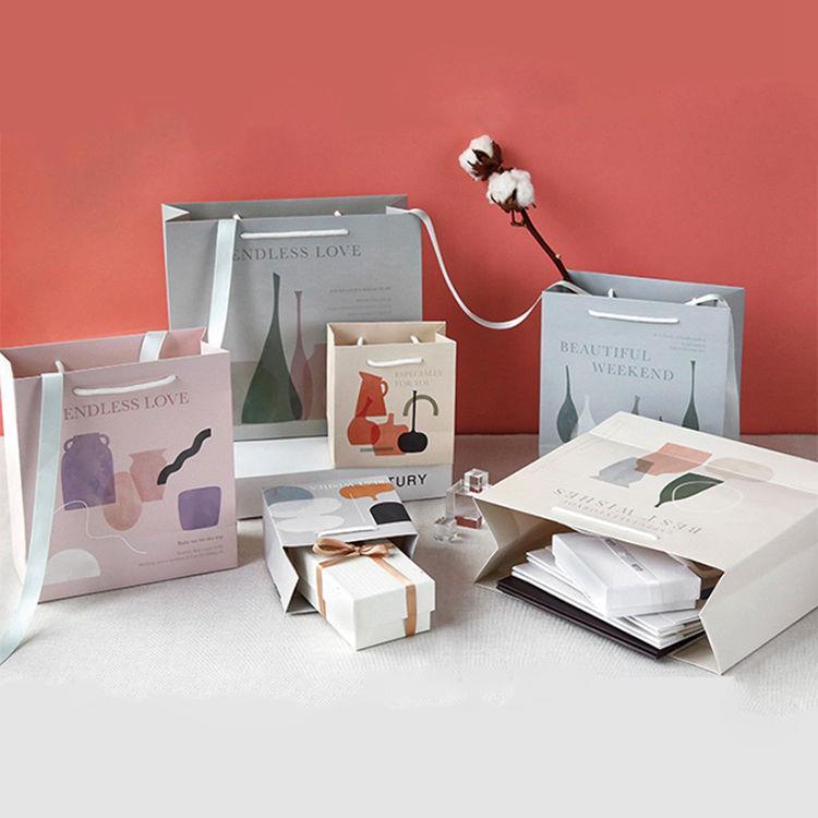 簡單生活禮物紙袋-輕灰S(15X14cm)
