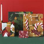 聖誕禮物紙袋-聖誕紅M(22X24.5cm)
