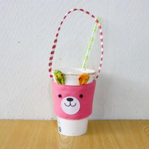 手縫ok!-兔子環保杯套(影片教學拼布材料包)