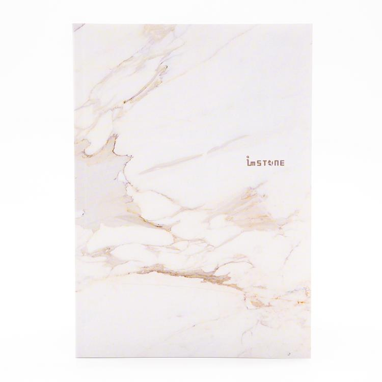 [imSTONE石頭紙禮品] 25K膠裝筆記本-白大理石