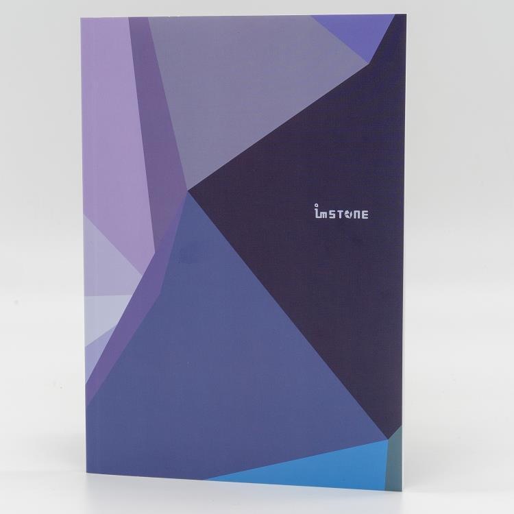 [imSTONE石頭紙禮品] 25K膠裝筆記本-幾何紫