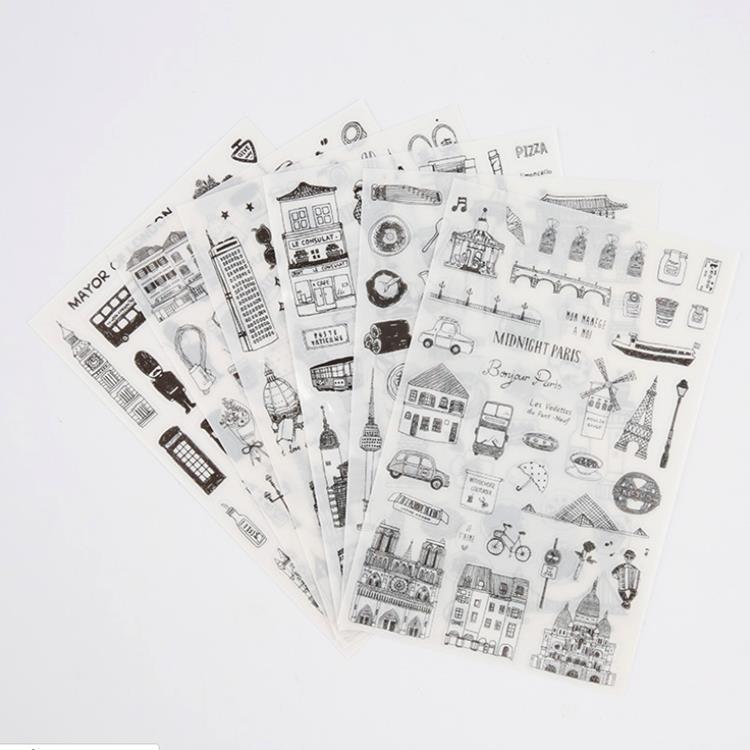 套裝貼紙12.環遊世界(6入/套)