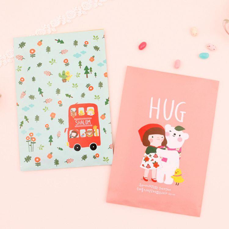禮物包裝紙袋(M)_02.擁抱/車(6入/組)
