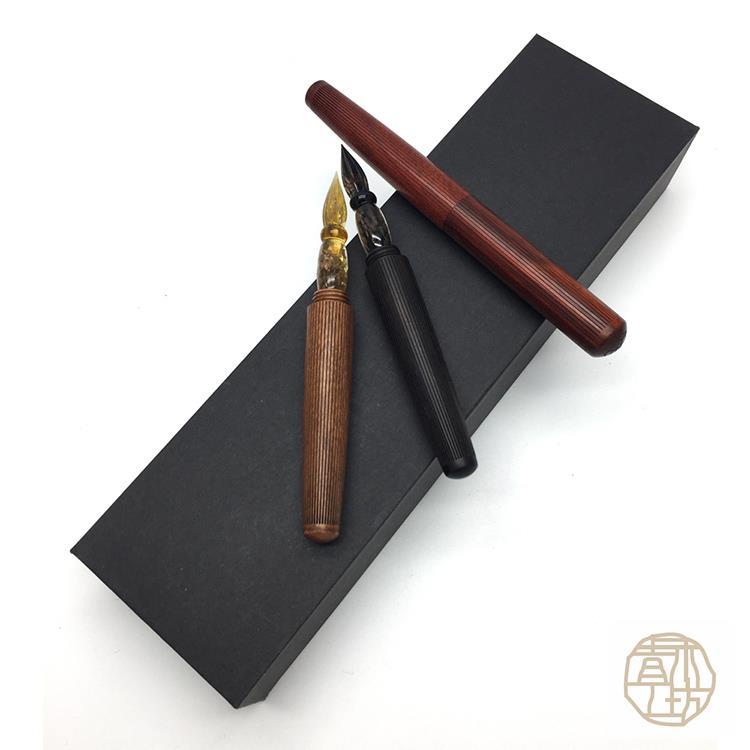 青木工坊 手工原木琉璃筆 (科檀/紫光檀/酸枝)