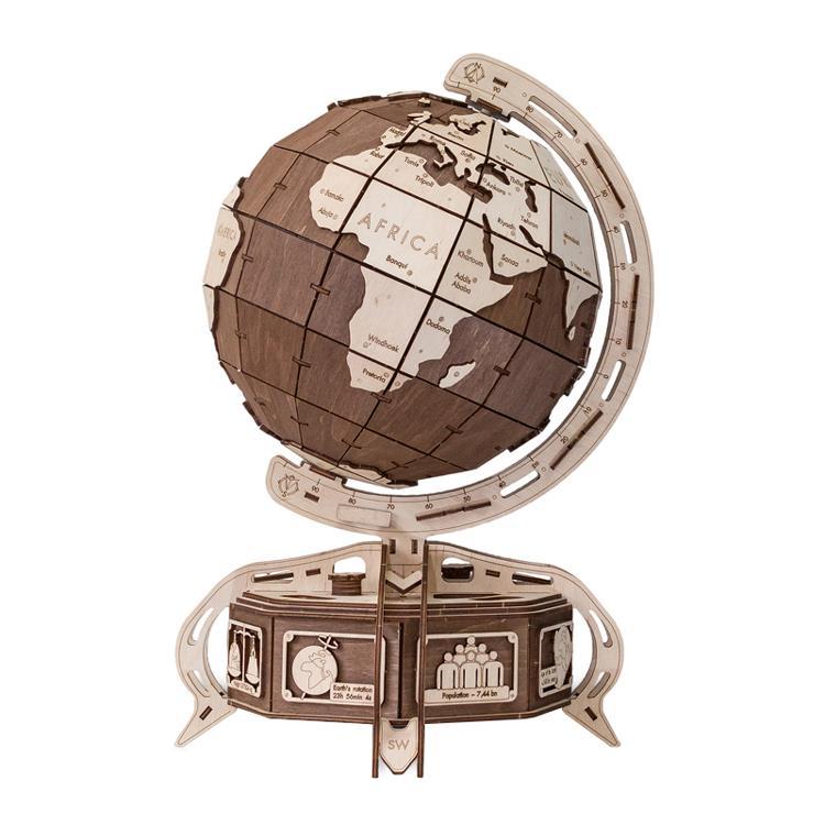 波蘭 WOODEN CITY 動力模型/地球儀/棕色