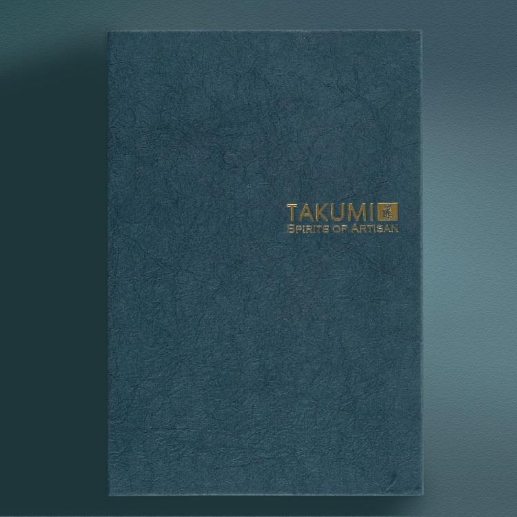 【IWI】匠 和紙筆記本A5金標-绀