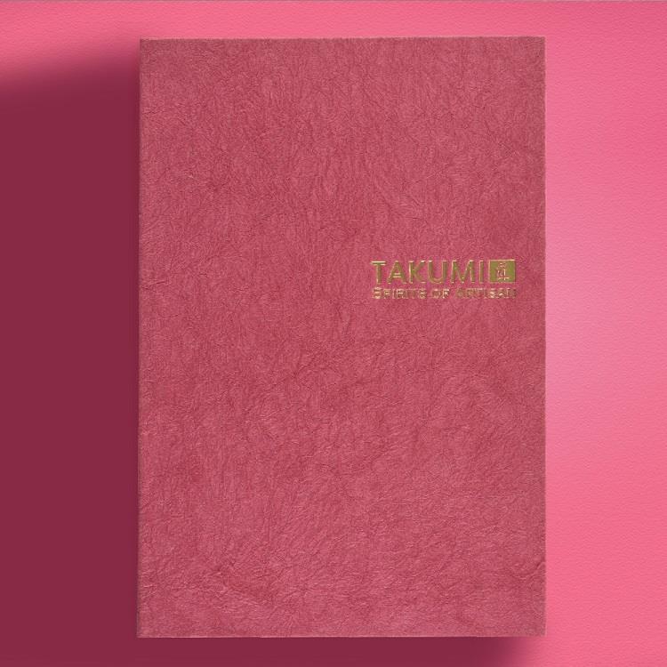 【IWI】匠 和紙筆記本A5金標-紅梅