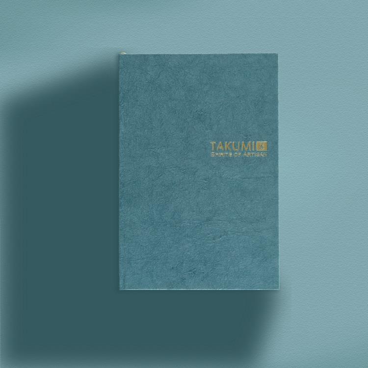 【IWI】匠 和紙筆記本A6金標-納戶