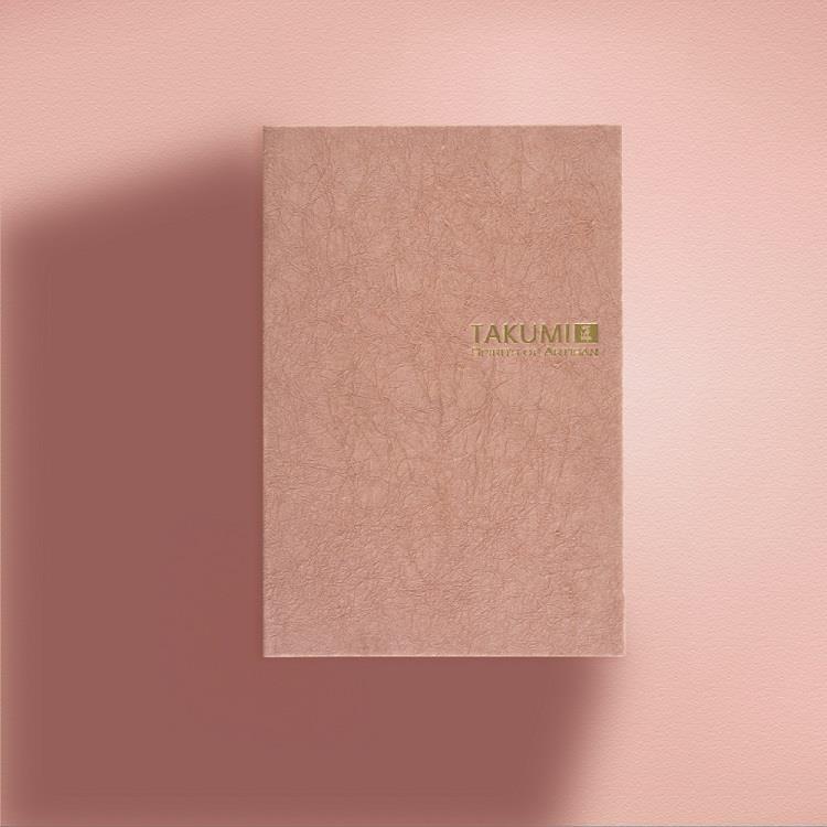 【IWI】匠 和紙筆記本A6金標-珊瑚