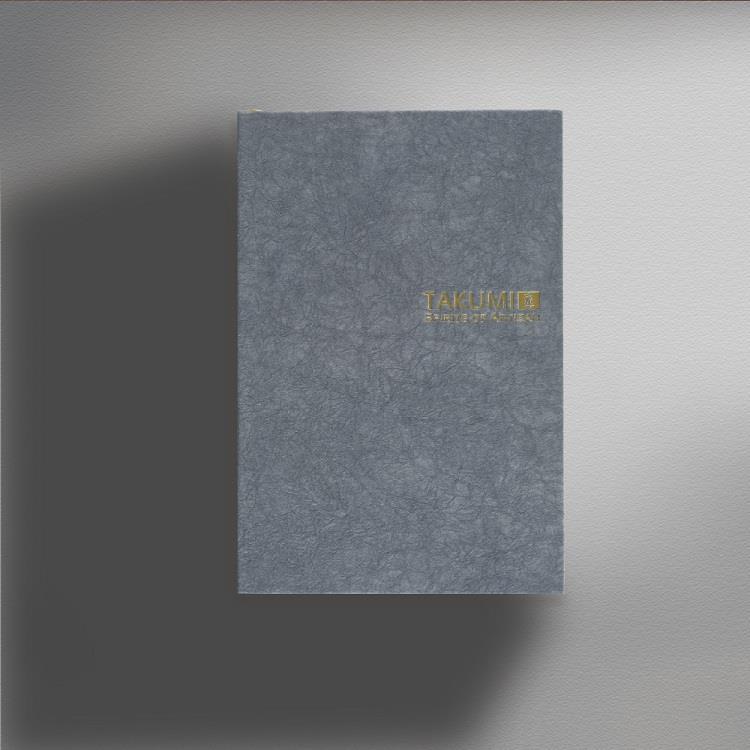 【IWI】匠 和紙筆記本A6金標-素鼠