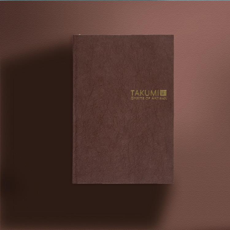 【IWI】匠 和紙筆記本A6金標-檜皮