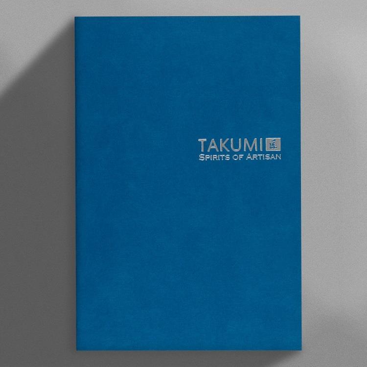 【IWI】匠 和紙橫線筆記本A5銀標-琉璃