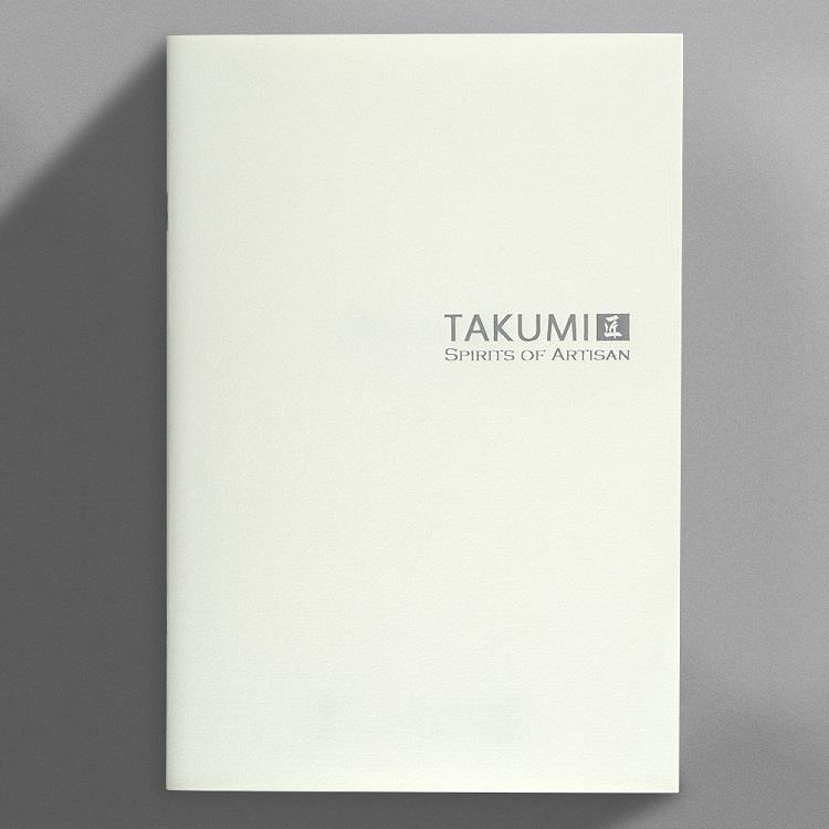 【IWI】匠 和紙方格筆記本A5銀標-白練