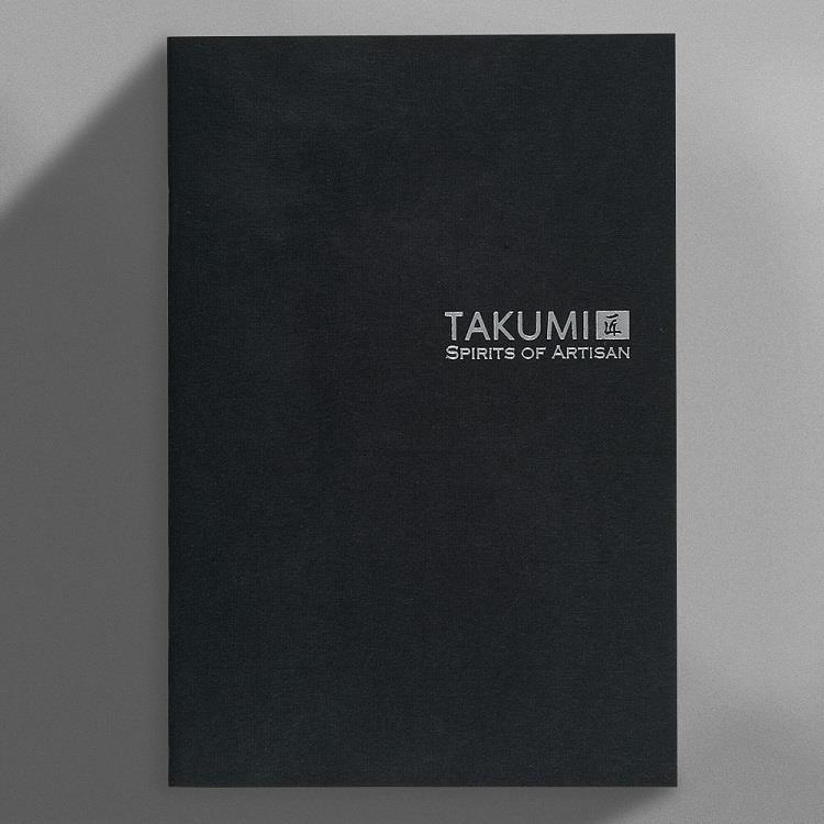 【IWI】匠 和紙方格筆記本A5銀標-墨