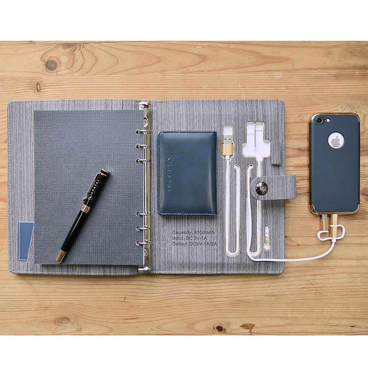 獨家專利 / 滿滿的正能量 - A5行動電源活頁本-灰色